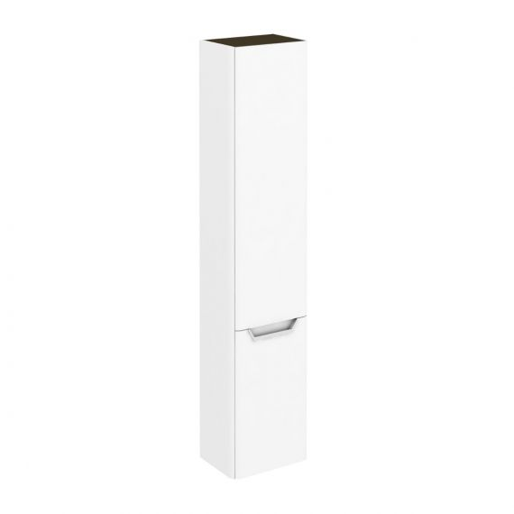 Frontline Life 350mm Tall Wall Unit Left Hand - Gloss White