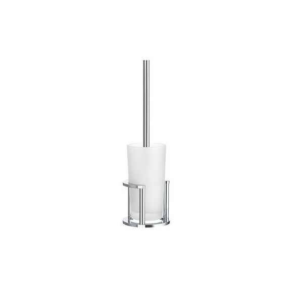Smedbo Outline Freestanding Toilet Brush with Glass Container