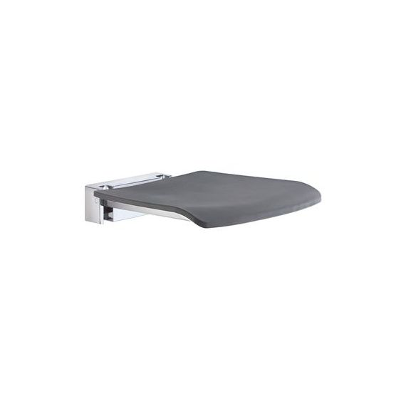 Smedbo Living Folding Wall Mounted Shower Seat Dark Grey
