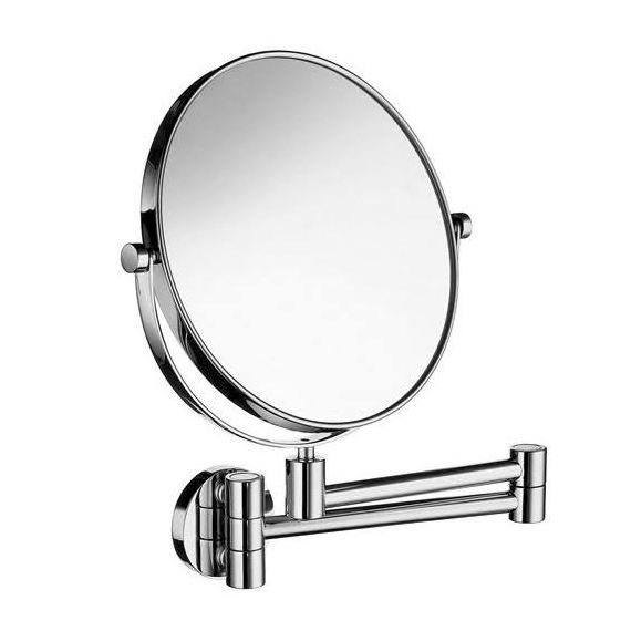 Smedbo Outline Swing Arm Shaving Make-Up Mirror Round