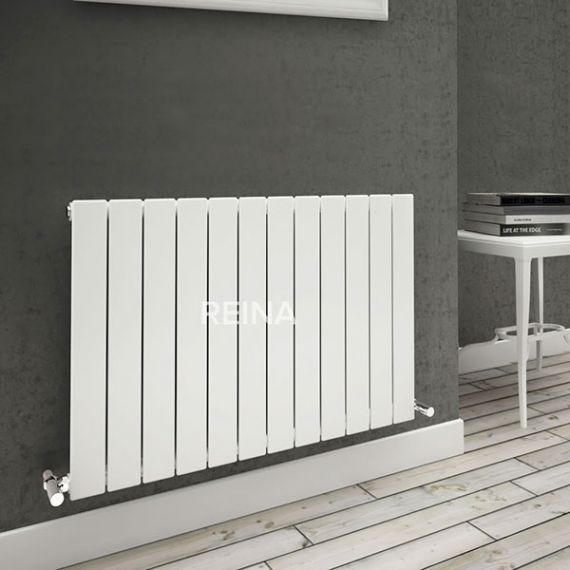 Reina Flat Single Panel Radiator 600 x 440mm RND-FL06W White