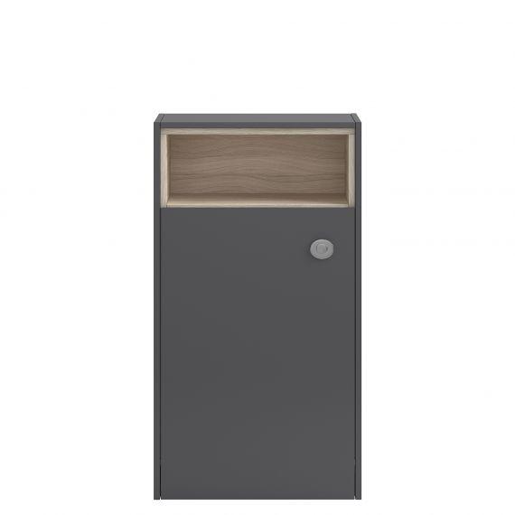 Coast Gloss Grey 600mm Open Shelf WC Unit
