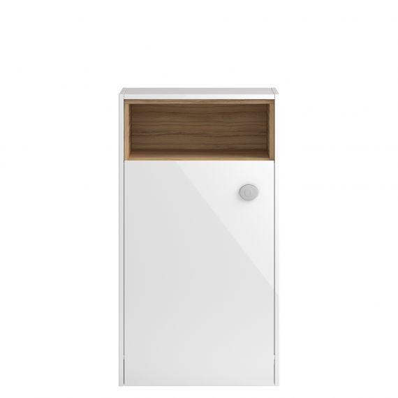Coast White Gloss 600mm Open Shelf WC Unit