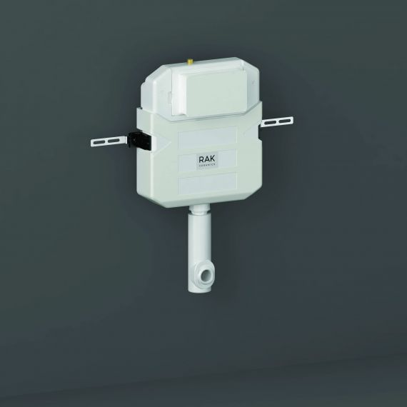 RAK-Ecofix Concealed Cistern for Furniture complete with Cable Operated Push Button - Bottom Inlet