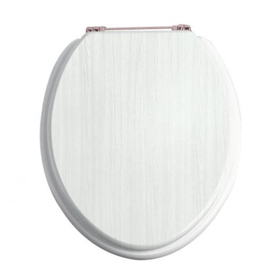 Heritage FWA102 White Ash/Rose Gold Toilet seat