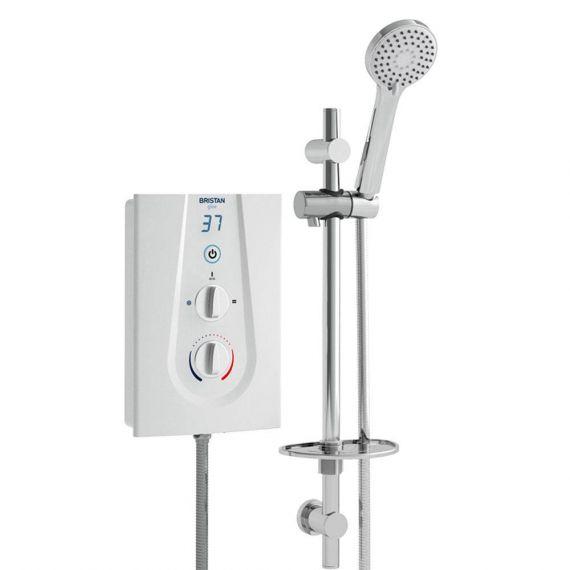 Bristan Glee Electric 10.5kW Shower & Kit White GLE3105W
