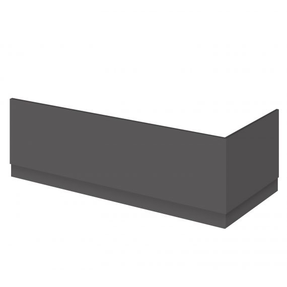 Nuie Gloss Grey 800mm Bath End Panel