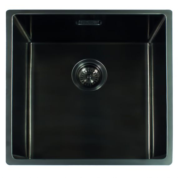 Reginox Miami Single Bowl Integrated/Undermount Kitchen Sink Gun Metal 540 x 440mm