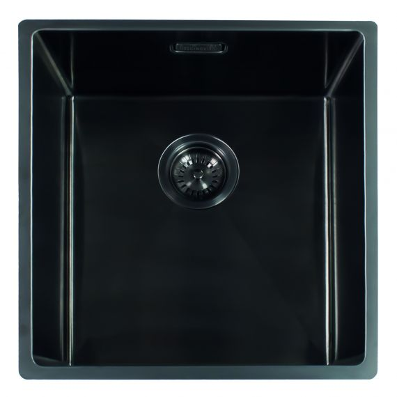 Reginox Miami Single Bowl Integrated/Undermount Stainless Steel Kitchen Sink Gun Metal 440 x 440mm