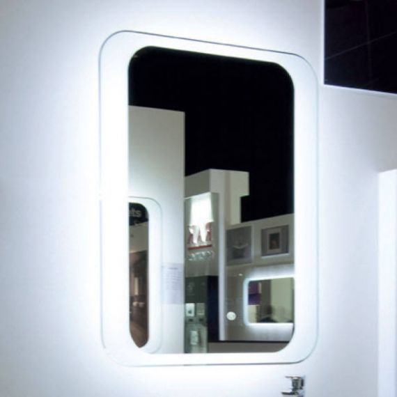 RAK Harmony LED Mirror with Switch and Demister Pad 800mm H x 600mm W