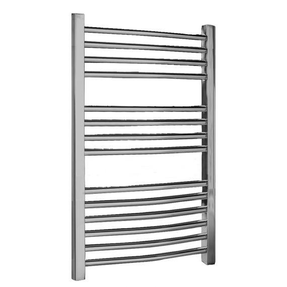 Nuie Curved Heated Ladder Rail Chrome 700 x 500mm