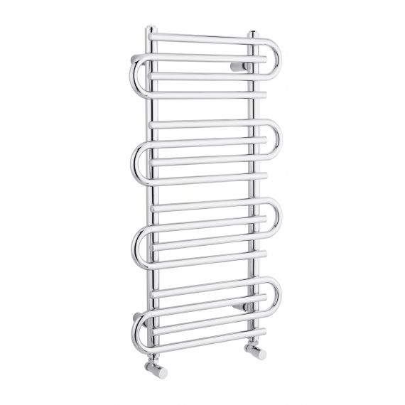Finesse Heated Designer Towel Rail 900 x 510mm Chrome