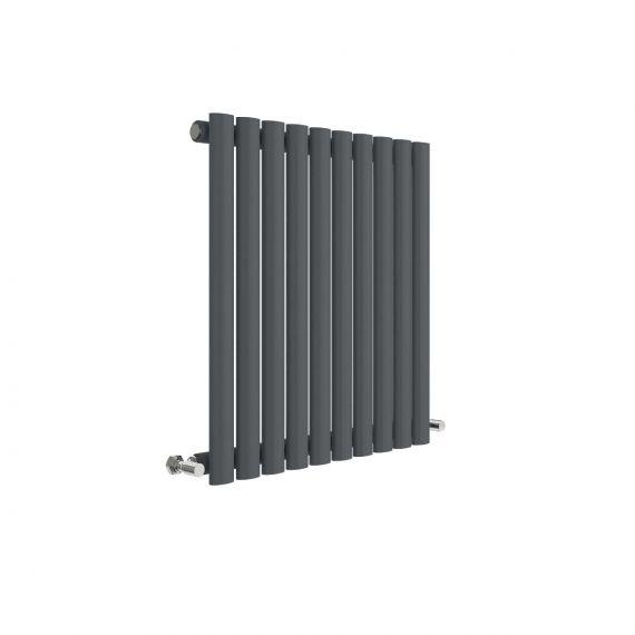 Revive Horizontal Single Panel Radiator Anthracite 600 x 586mm