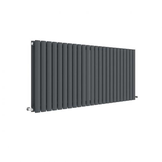 Revive Horizontal Double Panel Radiator Anthracite 600 x 1398mm