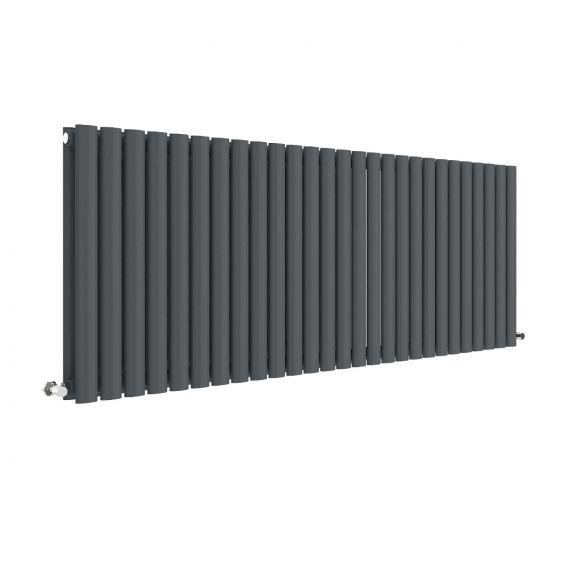 Revive Horizontal Double Panel Radiator Anthracite 600 x 1572mm