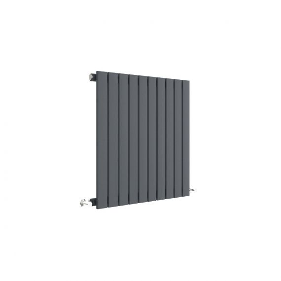 Sloane Horizontal Single Panel Radiator Anthracite 600 x 586mm