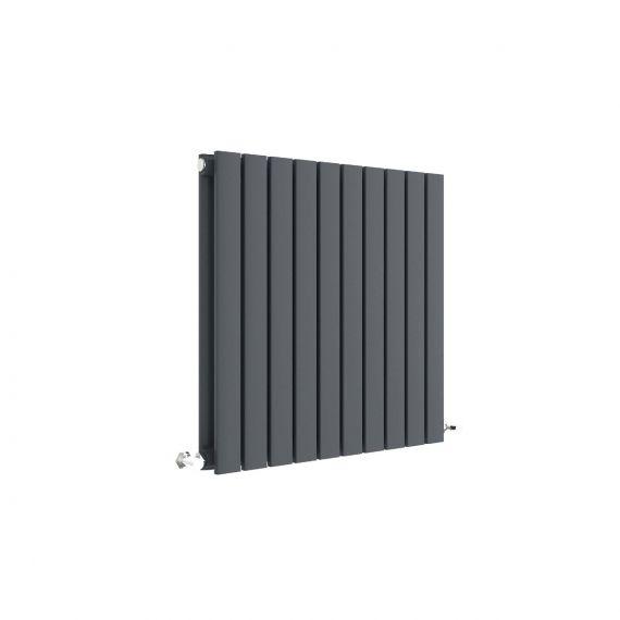 Sloane Horizontal Double Panel Radiator Anthracite 600 x 586mm