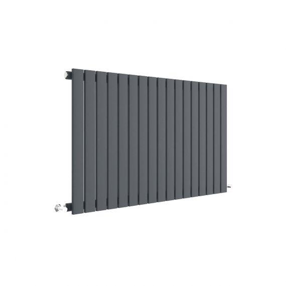 Sloane Horizontal Single Panel Radiator Anthracite 600 x 992mm