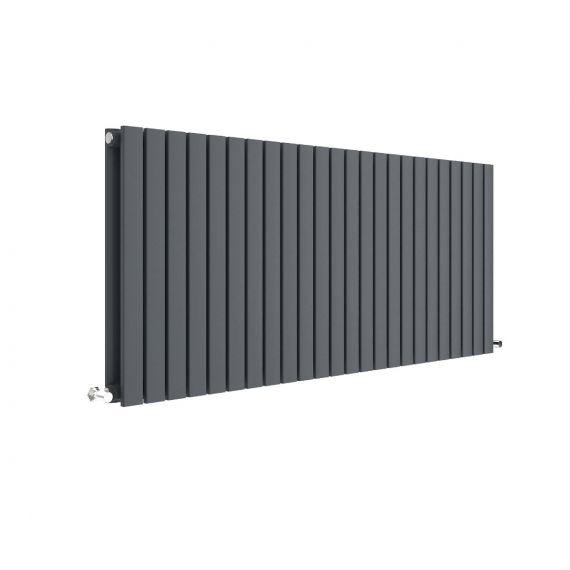 Sloane Horizontal Double Panel Radiator Anthracite 600 x 1398mm
