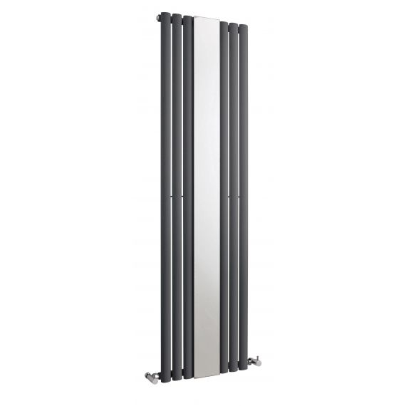 Revive Single Panel Designer Radiator With Mirror Anthracite 1800 x 499mm