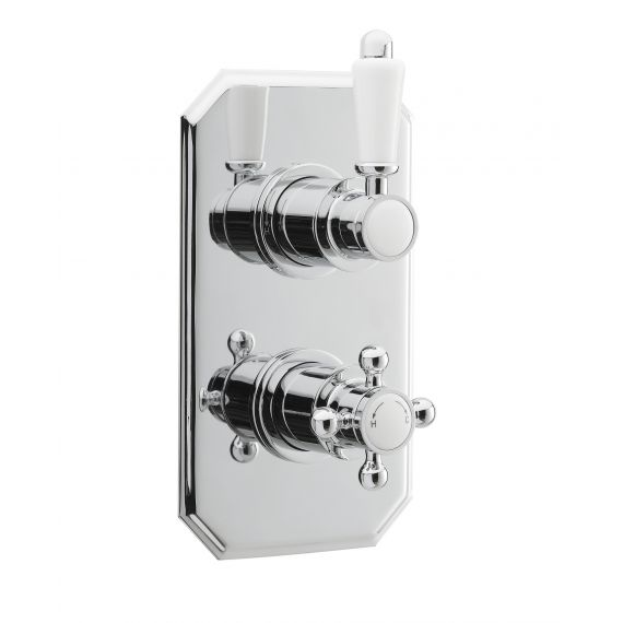 Nuie Victorian Twin Thermostatic Shower Valve Chrome