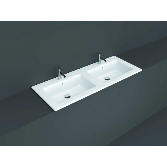 RAK-Joy Drop-in Washbasin 121x46cm (2 tap hole)