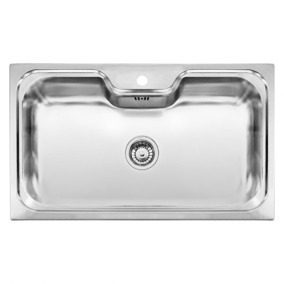 Reginox Jumbo Single Bowl Stainless Steel Inset Sink 860 x 510mm