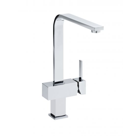 Nuie Square Single Lever Side Action Mixer Tap Chrome
