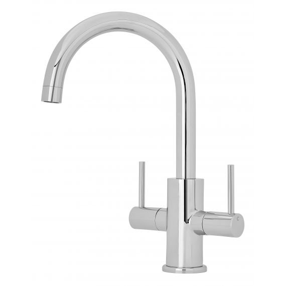 Nuie Two Handle Kitchen Mixer Tap Chrome