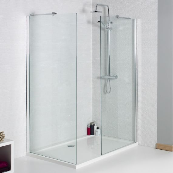 1200mm 8mm Wetroom Glass Panel