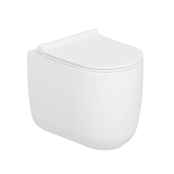 Skye Back to Wall WC Rimless Toilet Pan with Soft Close Seat