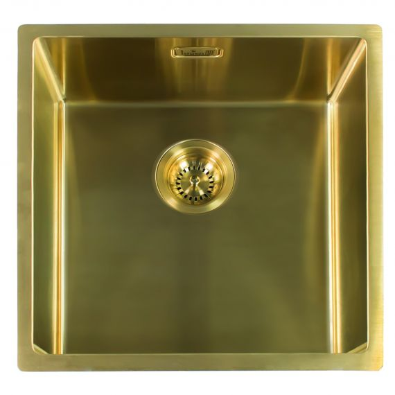 Reginox Miami Single Bowl Integrated/Undermount Kitchen Sink in Gold 540 x 440mm