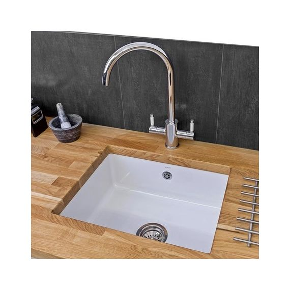 Reginox Mataro 1 Bowl Ceramic Undermount Kitchen Sink