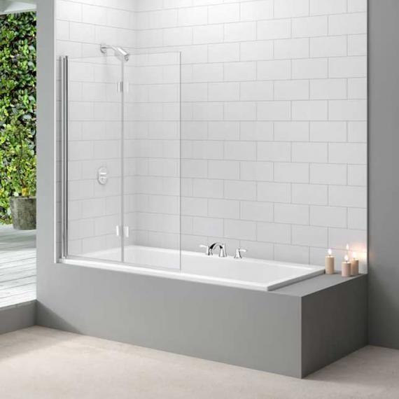 Merlyn Two Panel Folding Bath Screen MB8