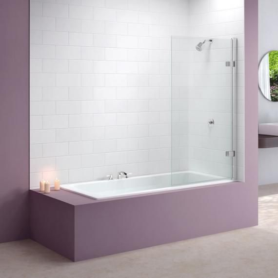 Merlyn MB6 Hinged Square Bath Screen 850mm x 1500mm