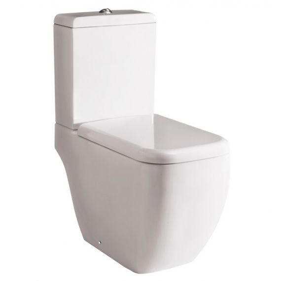 RAK Metropolitan Close Coupled Toilet Open Back inc Seat Option