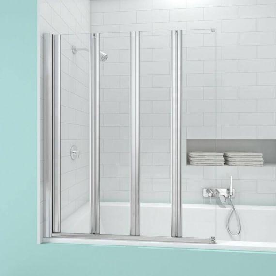 Merlyn SecureSeal 4 Fold Bathscreen 800 x 1500mm