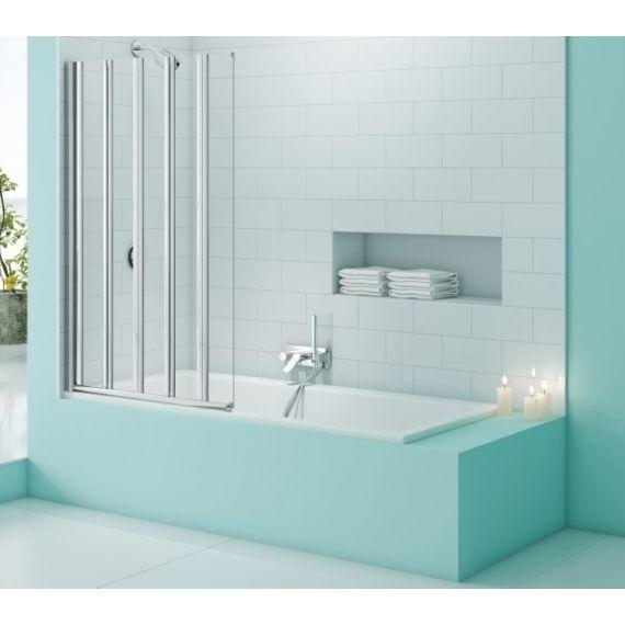 Merlyn SecureSeal 5 Fold Bathscreen 1000 x 1500mm