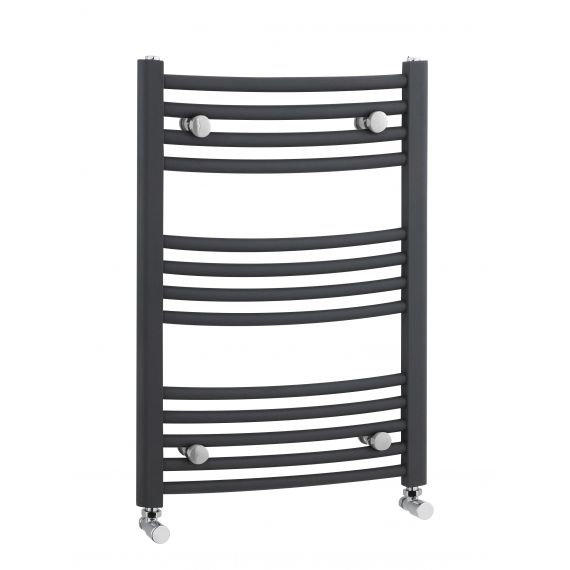 Nuie Curved Heated Ladder Rail Anthracite 700 x 500mm