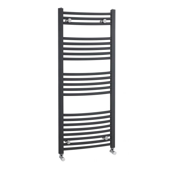Nuie Curved Heated Ladder Rail Anthracite 1150 x 500mm