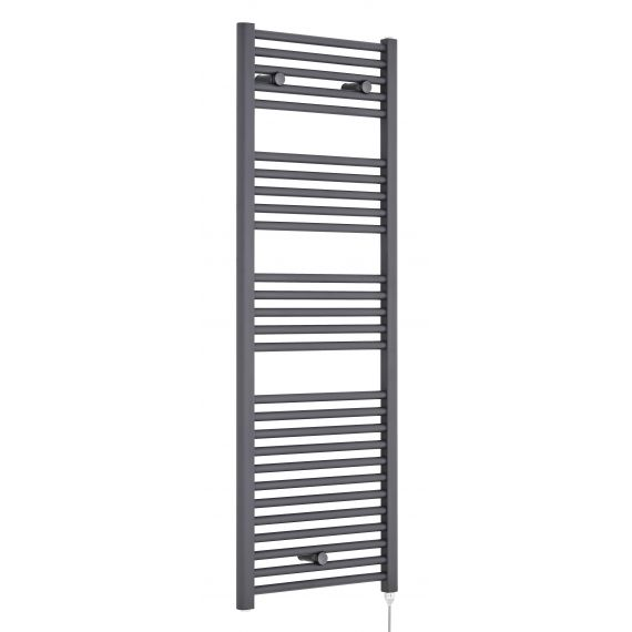 Nuie Electric Heated Towel Rail Anthracite 1375 x 480mm