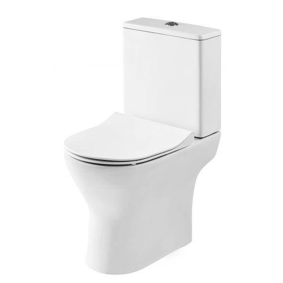 Nuie Freya Compact Close Coupled Pan, Cistern & Seat