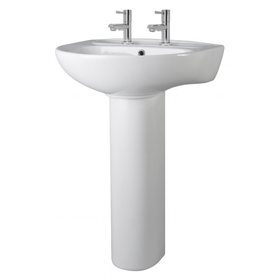 550mm 2TH Basin & Pedestal