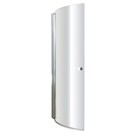 Nuie Curved P-Bath Screen with Knob