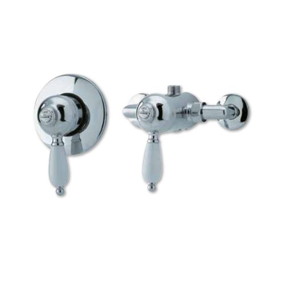 Nostalgic Manual Traditional Shower Valve Concealed or Exposed