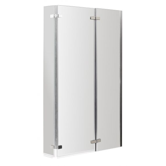Nuie Quattro L-Shaped Bath Screen Double Hinged