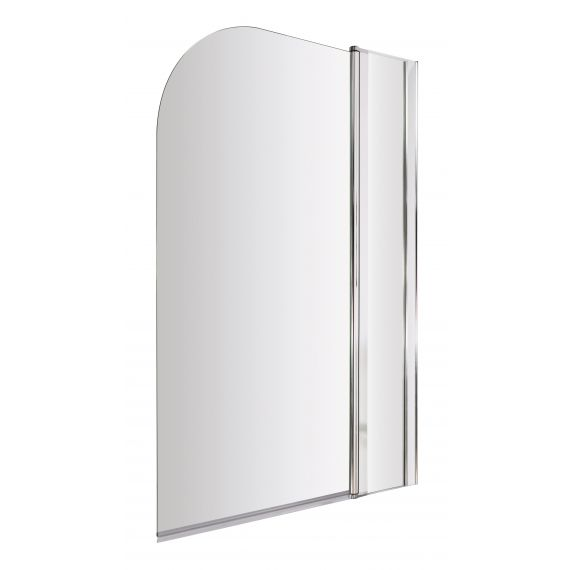 Nuie Straight Round Bath Screen With Fixed Panel
