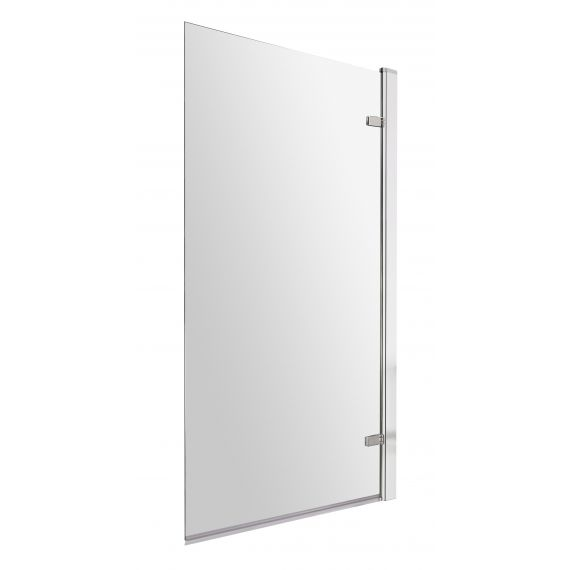 Nuie Square Hinged Bath Screen - 8mm