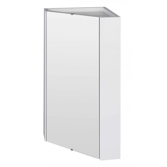 Nuie Mayford Gloss White Corner Mirror Cabinet