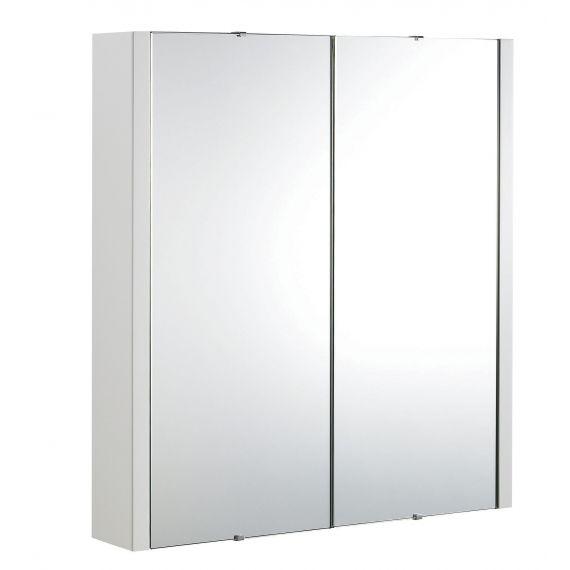 Nuie Eden Gloss White 600mm Mirror Cabinet